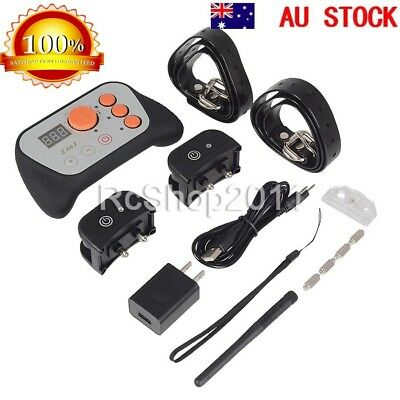 AU Newest Electronic Dog Fence System Hidden Electric Collar Wireless Waterproof