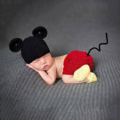 Lovely New Baby Photography Props Clothing Photo Cap+Pants+Shoes Crochet Outfits