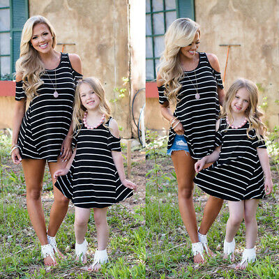 AU STOCK Outfit Family Matching Clothes Mother Daughter Women Girls T-shirt Tops