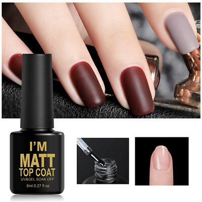 8ml UV&LED Soak Off Gel vernis à ongles, Manteau mat et couche de base Nail Art.