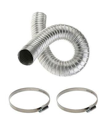 Aluminium Flexible Hose 80mm with Two Clips 70mm-90mm Ducting Flexi Pipe Tubing