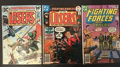 Our Fighting Forces THE LOSERS #145, #176 & #178 CND: FN/VF+
