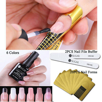 Clear Nail Builder Gel Quick Building Set Soak Off Gel Manicure Extension Kit