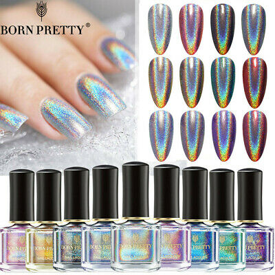 6ml BORN PRETTY Holographic Glitter Nail Polish Laser Nail Art  Varnish