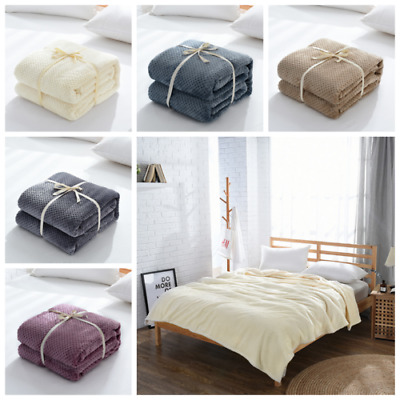 Hot Large Luxury Waffle Christmas Mink Warm Bedroom Throw Over Bed Soft Blanket