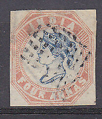 SG 18 1854-554a blue and pale red Used