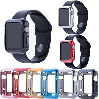 Soft Gel TPU Protective Frame Cover Case For Apple Watch Series 3 2 1 38mm 42mm