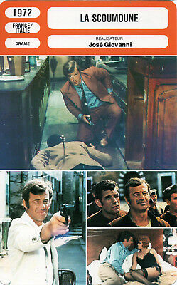 Movie Card Fiche Cinéma. La Scoumoune (France/Italie) José Giovanni 1972