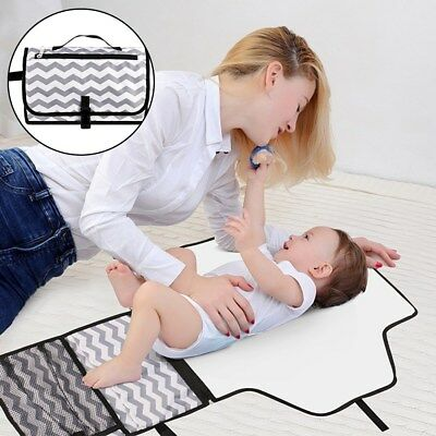 Nappy Changing Mat Pad Waterproof Diaper w/Large Capacity for Storaging Diapers