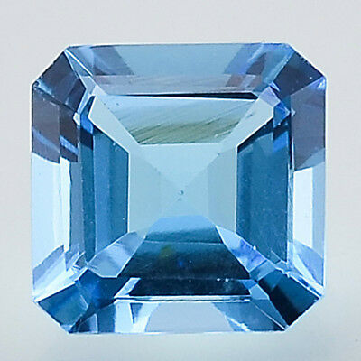 0.93Ct Natural Swiss Blue Topaz 5x5mm Square Octagon Cut Loose Stone SBT1020