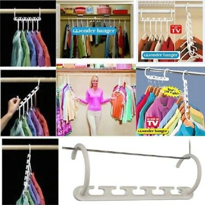 Magic Hanger Clothing Rack Clothes Closet Wonder Wardrobe Organiser Space Saver