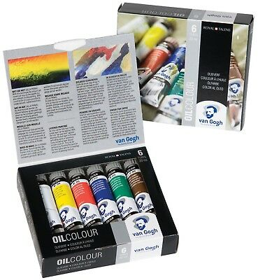 Royal Talens Van Gogh Oil Colour 6 x 20ml Tube Paint Set