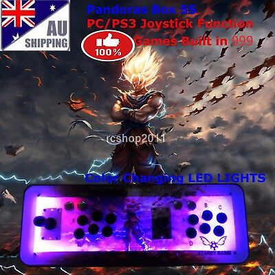 1299 Pandoras Box 5S Home Arcade Video game console video games Evil GOKU LED HD