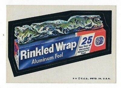 1973 Topps Wacky Packages 4th Series 4 RINKLED WRAP high-gloss nm-