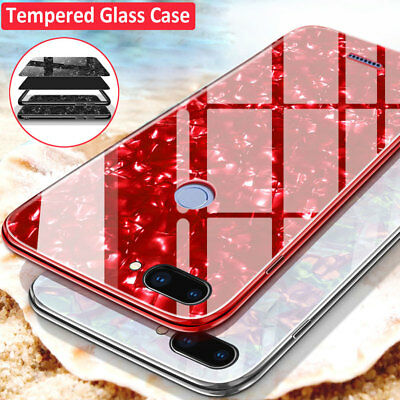 For Xiaomi A2 A1 Bling Tempered Glass Hybrid Case Cover for Redmi Note 5/5 Plus