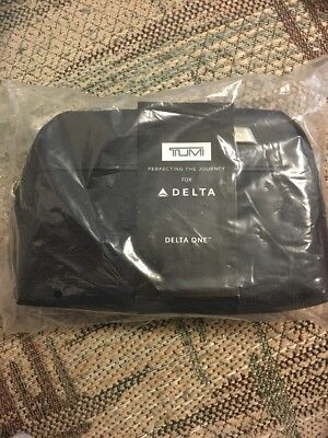 NEW! Soft Sided Black Delta Air Lines Tumi Amenity Kit In Bag July