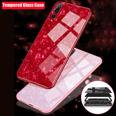 For Huawei Mate10 P20 Lite/ P20 Pro Tempered Glass Case Shockproof Bumper Cover