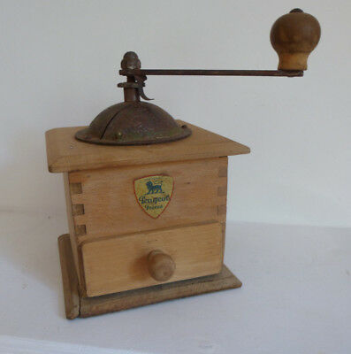 A French vintage Peugeot Freres coffee mill grinder