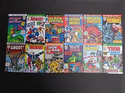 Kirby 100th True Believers Lot of 12 Black Panther Ant Man Wasp Thor X-Men