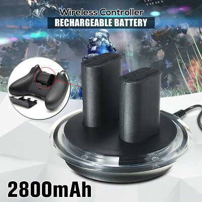 2x Rechargeable Battery + Charging Dock Station for XBOX ONE Gaming Controller