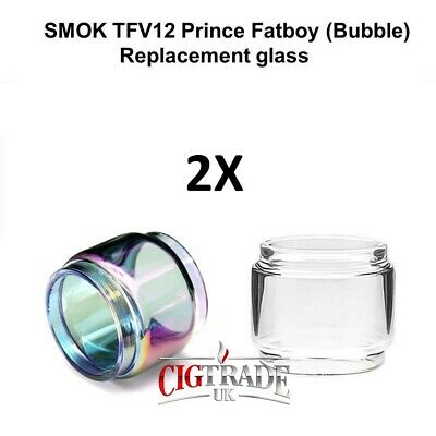 2x SMOK TFV12 PRINCE 8ml FatBoy BUBBLE GLASS Tube