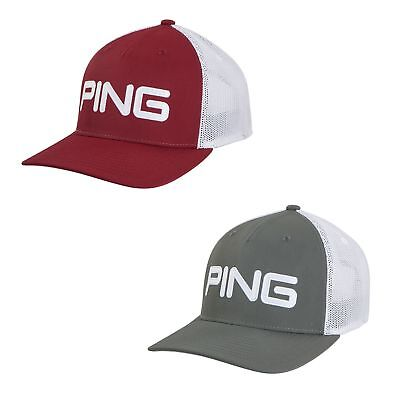 bf825eeae03 2018 PING MR. Ping Patch Hat Mens Adjustable Golf Cap Light Blue ...