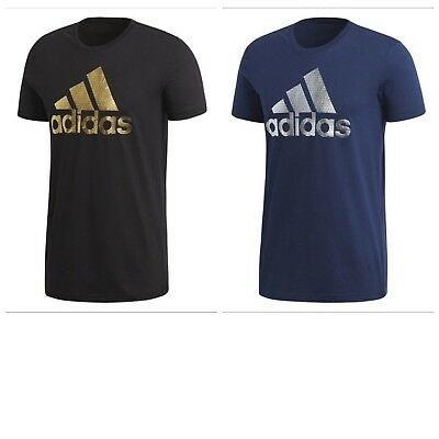 Adidas Men's Tee Bos Foil T Shirt Retro Tee Short Sleeves Crew Neck Tee S M L XL