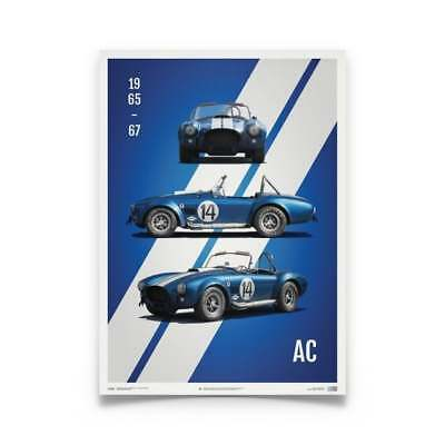 Unique & Limited Poster Shelby Cobra Mark III Blue Racing Car 50 x 70 cm