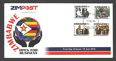 2018 new ZIMBABWE OPEN FOR BUSINESS FDC 18th JULY 2018 - low volume
