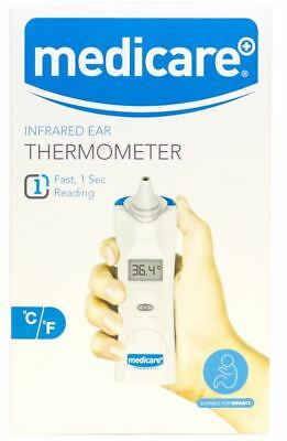 Ear Thermometer IR Infra-Red Digital LCD In-Ear Baby Adult With 20 Probe Covers