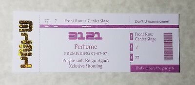Prince - Purple Ticket for 3121 Perfume Premiering 07-07-07 - Rare Collectible
