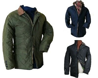 Mens Luxury Quilted Waterproof Jacket With Real Leather Trim, Z8 L,XXL XXXL