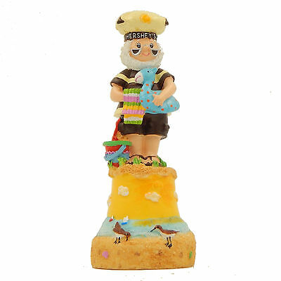 Hand Bell Mr Hershey Chocolate Summer Beach Vacation Retired 2000 Collectible