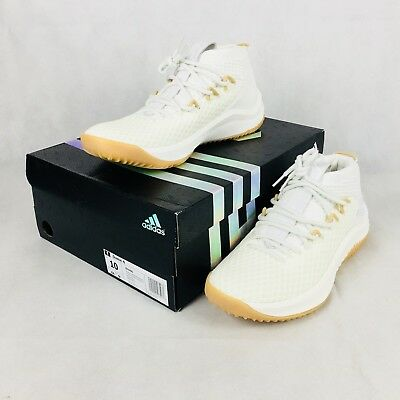 premium selection f1af7 971ed Adidas Dame 4 Un-Dyed Mens BY4496 White Dame Lillard Basketball Shoes Size  10