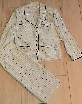 St. John Collection by Marie Gray Stunning Knit 7 Button Front Skirt Suit 12