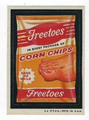 1973 Topps Wacky Packages 4th Series 4 FREETOES CORN CHIPS nm-