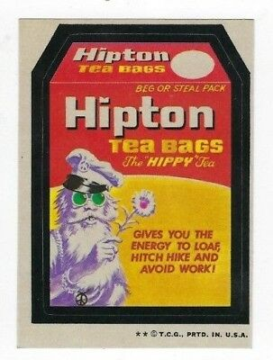 1973 Topps Wacky Packages 4th Series 4 HIPTON TEA BAGS nm- o/c