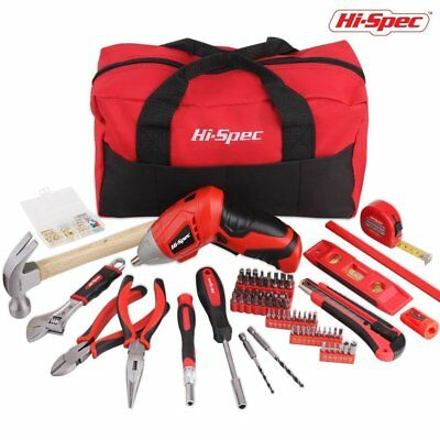HiSpec 160 Pieces Home DIY Maintenance Tool Set with 48v Advanced 2Position Cord