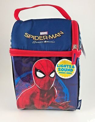 Thermos Spiderman Lunch Box with Ice Mat and Light Up Eyes