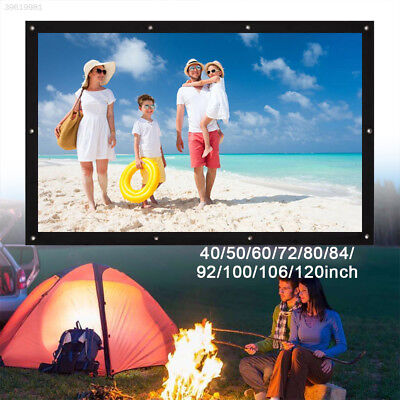 Folded Projection Screen Projector Screen Portable 16:10 Polyester Education
