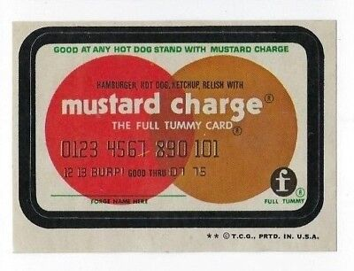 1973 Topps Wacky Packages 4th Series 4 MUSTARD CHARGE nm- o/c