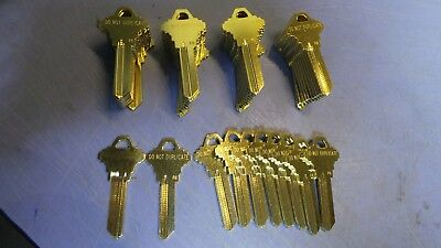 50 – FG keyway 6 pin Schlage type, DO NOT DUPLICATE on one side.  NEW