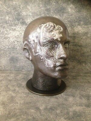 Steampunk male mannequin head adult size men's hat,wig display stand