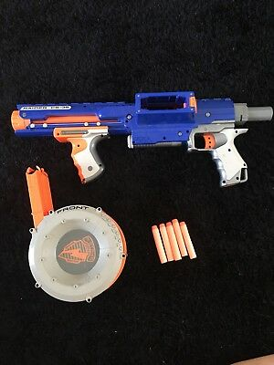 Nerf N-Strike Elite Raider CS-35 + Barrel Magazine + Stock + AMMO Darts Bullets