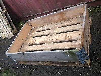 Stamped Heavy Duty Euro Pallet With Collar. Wooden pallets Box Crate job lot