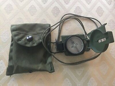 US Army Magnetic Compass with Neck Strap and Case ~ Stocker & Yale, Inc ~ Unused