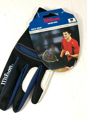 Wilson Racquetball Glove Max Grip - LEFT HAND Medium 1 Glove - Black/White NEW