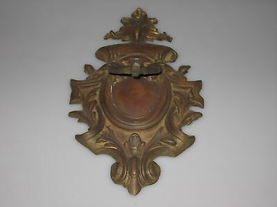 Antique Brass Large Door Knocker Ornate And Great Patina