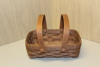 Longaberger 2009 Small Loaf Basket in Rich Brown (NEW)