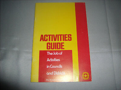 Vtg BSA Boy Scouts of America 1972 Scout Master's Scouting Activities Guide Book